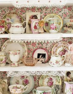I love these gorgeous vintage tea cups and saucers!