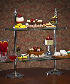Look what I found on #zulily! Two-Tier Glass Etagere #zulilyfinds