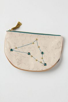 capricorn pouch from anthro Capricorn Constellation Tattoo, Winter Outfits, Summer Outfits, Stargazing, Constellations, Bag Accessories, Sunglasses Case, Anthropologie, Pouch