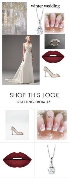 """Winter Wedding Contest."" by katrinaevans-i ❤ liked on Polyvore featuring Dolce&Gabbana, Maggie Sottero and Forever 21"