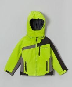 Look at this #zulilyfind! Lime Green Insulated Soft-Shell Jacket - Toddler & Boys #zulilyfinds