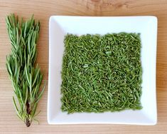 Save money on herbs with this easy trick for Drying Fresh Rosemary in 60 seconds! It's kind of like craft time in the kitchen!