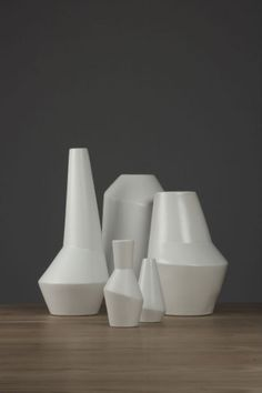 "ett la benn's ""parts"" collection. 19 asymmetric ceramic pieces for Australian homewares distributor 'Maxwell & Williams' which enter the worldwide market in June 2012."