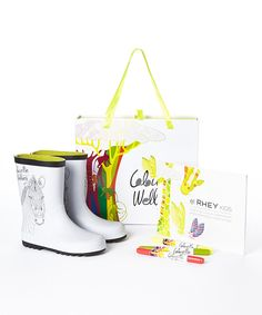 Another great find on #zulily! Zebra ColourMe Wellies Set - Kids by Colour Me Wellies #zulilyfinds
