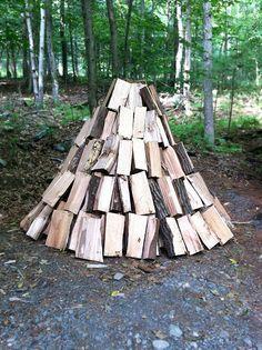 a totem to hand-split logs (via mrs. easton)