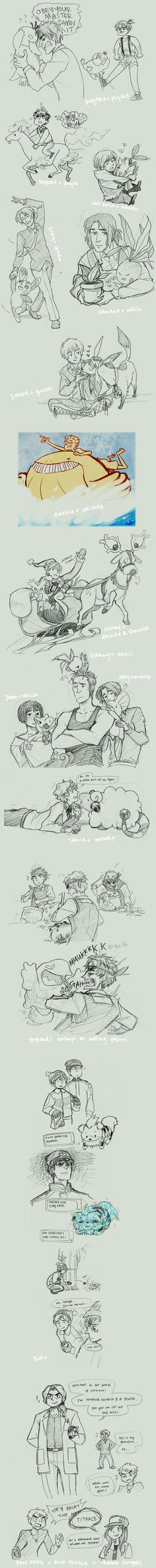 hetaliamon by Blue-Fox on deviantART. Hetalia X Pokemon..this is awesome!<<< The last part, though! Lol poor Prussia
