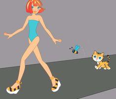 Fashioniks Animation - on the catkin walk Copyright Geri Livingston 2004 - 2018
