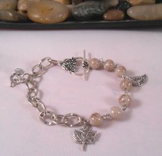 Chain & Glass Bead Bracelet - http://elohijewelry.storevnvy.com