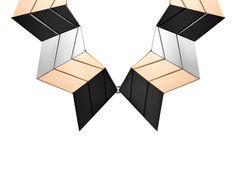 Louis Vuitton: Zigzag statement necklace David Bowie Andreea Diaconu