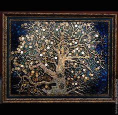 Купить Денежное Дерево (Дерево, приносящее богатство) - декор для интерьера, украшение для интерьера, панно, картина