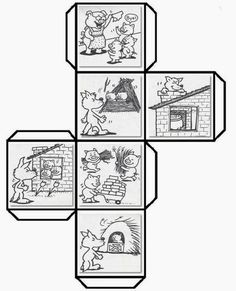 Have students color cut fold and paste to make a story cube that can be used to retell The Three Little Pigs and talk about shapes Leave a comment if you woul. Book Activities, Teaching Resources, Teaching Reading, Learning, Story Cubes, Story Sequencing, Traditional Tales, Three Little Pigs, Retelling