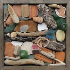 Treasure box from the sea #driftwood #seaglass