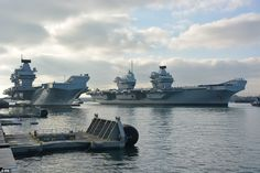 Royal Navy Aircraft Carriers Dock Together In Portsmouth - The Best and Latest Aircraft 2018 Hms Ark Royal, Royal Uk, Port Royal, Queen Elizabeth Carrier, Hms Queen Elizabeth, Royal Navy Aircraft Carriers, Navy Carriers, Us Navy Aircraft, New Aircraft