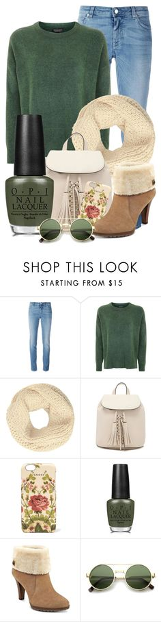 """""""Green With Envy: Wintery Nail Polish"""" by crazy4orcas ❤ liked on Polyvore featuring beauty, Givenchy, Topshop, John Lewis, Forever 21, Gucci, OPI, Anne Klein and ZeroUV"""