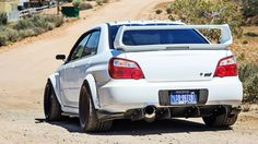 White Subaru Impreza STI wallpapers and images - wallpapers