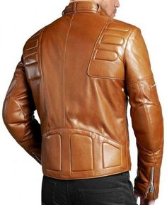 • Stylishly cut and designed • 100% genuine lambskin leather jacket • 1 front zipper closure, 2 inside pockets, 3 zipper pockets on the front left side, 1 zipper pocket on the front right side. • 1 zipper on the right sleeve near the biceps, 1 zipper on the left sleeve near the forearm, 1 zipper on the back of each sleeve near the wrist . • Satin lining • All our products are brand new made from 100% Genuine Leather and perfect example of Professional Design, Brilliant Craftsmanship and…