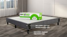 GhostBed All-in-One Foundation™ Latex Mattress, Foam Mattress, Best Mattress, Mattress Covers, Traditional Bed Frames, Comfortable Pillows, Adjustable Legs, Headboard And Footboard, Cool Beds