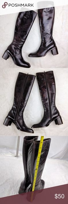 Joan Helpern Leather Brown Boots Chunky Heels Joan Helpern Leather Brown Boots Chunky Heels Size: 6 M (Boots say Medium but are more of a narrow)  Joan Helpern of CIRCA Joan & David designed these gorgeous boots. It's a Vintage item in very good condition. Some minor scratches on front and side of boots but it's minor.  Measurements included in pictures.  Thanks for stopping by Joan Helpern Shoes Heeled Boots