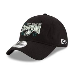 5d90c785b89 Philadelphia Eagles New Era 2017 NFC East Division Champions 9TWENTY  Adjustable Hat – Black