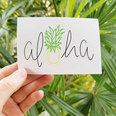 Aloha Pineapple, Kawaii stickers, Laptop Sticker, Macbook Sticker, Pineapple Sticker, Aloha Sticker, Baby gift, Baby Shower, Vinyl Sticker