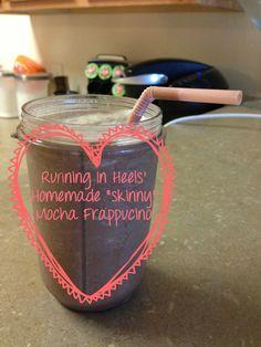 Homemade Skinny Mocha Frappucino via Running In Heels