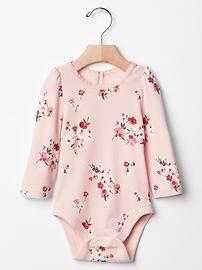 Lace floral keyhole bodysuit