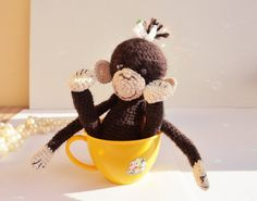 Crochet Monkey /Soft amigurumi toy / plush by LittleSweetCandyShop