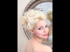 Wedding hair video - updo on fine hair