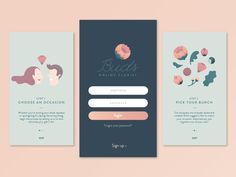 A conceptual design for a florist mobile app called Buds. The whimsical, playful illustrations that we created make the onboarding process a little more fun and enjoyable. Work with us → Twitter ...