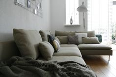 Söderhamn beige Home And Living, Houses, House Design, Couch, Beige, Interior, Furniture, Home Decor, Living Room