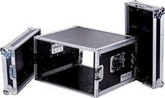 DEEJAY LED TBH6UAD Fly Drive Case 6u Space Professional DJ Amplifier Case - 18-Inch Body Depth