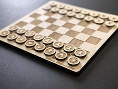 This minimal chess set has been laser cut out of 3 or birch ply and hand-sanded finished. Laser Cutter Ideas, Laser Cutter Projects, Cnc Projects, Woodworking Projects, Woodworking Wood, Laser Art, 3d Laser, Laser Cut Wood, Wood Cutting