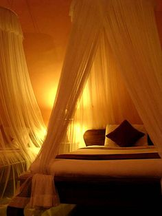 glowing bed