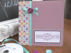 Vintage Verses stamps; Crumb Cake card base; Madison Avenue DSP; Sycamore Street Ribbon and Button pack