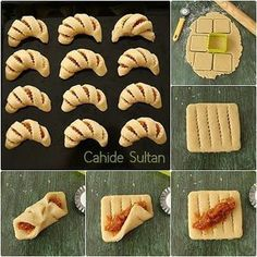56 Gorgeous from Each Other of Homemade Pastries, Easy Food Decorations - Delicious Food Kids Pastry Recipes, Cookie Recipes, Dessert Recipes, Bread Recipes, Bread Shaping, Homemade Pastries, Bread And Pastries, Arabic Food, Snacks