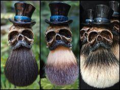 Tophat Skull Shaving Brush - $45-$65   Shaving Soap, Aftershave