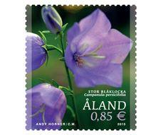 COLLECTORZPEDIA: Aland Islands Stamps Peach-leaved bellflower (Campanula persicifolia)