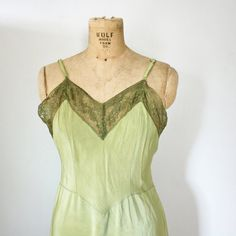 vintage 40s Upcycled Hand Dyed Sage Green by littleveggievintage, $30.00