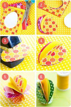 (via Pappersägg – Paper eggs | Craft Creativity – Pyssel DIY)