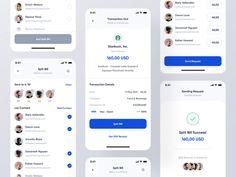 Splitup - Mobile App by Barly Vallendito for Dipa: UI/UX Design on Dribbble Ui Ux Design, Mobile App, Shopping, Mobile Applications