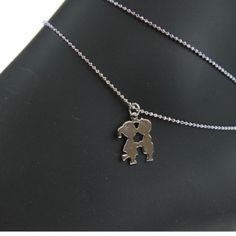 BOY/GIRL ANKLET AWESOME FOR MOM WITH TWINS BOY/GIRL IN SILVER WITH LOBSTER CLAW CLOSURE EXTRA EXTENSION  $1.00 Jewelry