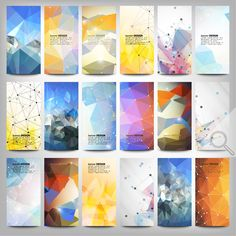 Colored abstract banners set by VectorShop on Creative Market