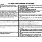 "This FREE file includes a checklist of the 5th grade ELA Common Core standards with aligned ""I can"" statements.  It is an excellent resource to ass..."