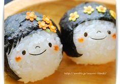 cute girls onigiri