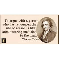 So know when it's pointless to argue, and STOP. Just because we disagree doesn't mean we have to be disagreeable.