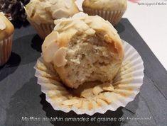 muffins au tahin amandes et graines de tournesol