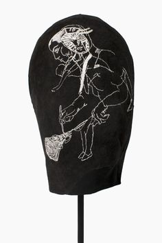 Handstitched on suede for the artist Cathrine Raben Davidsen 2012 by Tine Wessel.  www.facebook.com/theneedlehasapoint