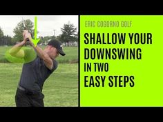 Eric Cogorno Golf-For you guys and girls that are still steep or still over the top, these are two pieces you can work that are really going to help you. Golf Downswing, Play Golf, Golf Stance, Golf Training Aids, Step Program, Golf Videos, Golf Instruction, Online Lessons, Golf Lessons
