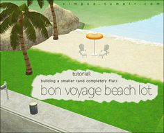 I have a tutorial for you ~ ^_^building a smaller and flat beach lot The much-requested flat-and-smaller beach lots I built for Apple Spri...