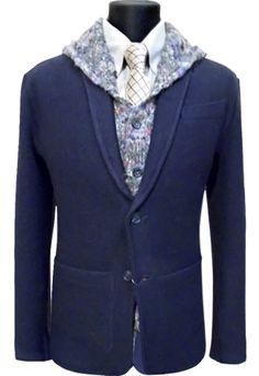 Knitted duo: a jacket and waist-coat without lining. Трикотажный дует: пиджак и жилетка без подклада. www.ipryanik.ru